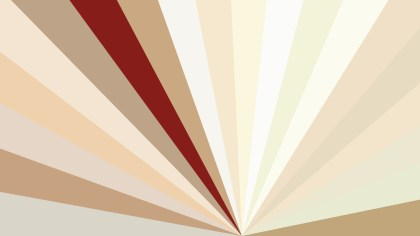 Beige and Red Radial Stripes Background Vector Graphic