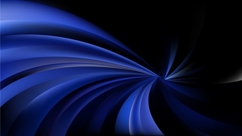 Black and Blue Swirling Stripes Background Image