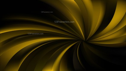 Abstract Black and Gold Spiral Rays Background Vector Illustration