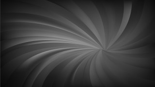 Abstract Black and Grey Radial Swirling Stripes Background