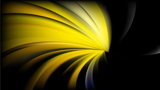 Abstract Black and Yellow Twisted Spiral Rays Background Design