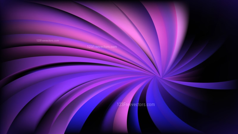 Abstract Black Blue and Purple Radial Spiral Rays background Vector Graphic