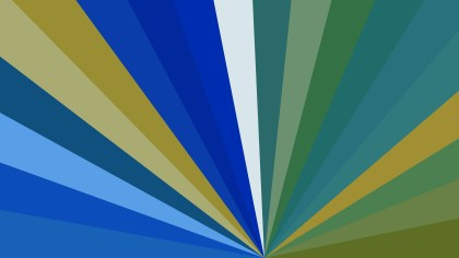 Abstract Blue and Green Radial Burst Background Image
