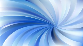 Blue and White Spiral Rays Background Vector Art