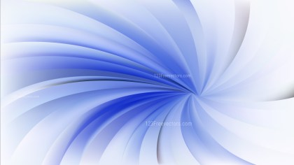 Abstract Blue and White Swirling Radial Background
