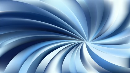 Blue and White Swirling Radial Background Vector Graphic
