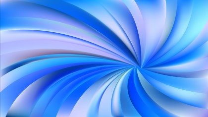 Blue and White Swirling Radial Background Graphic