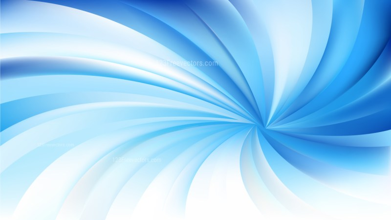 Abstract Blue and White Swirling Radial Vortex Background Vector Image