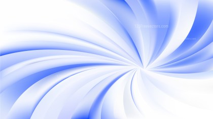 Abstract Blue and White Swirl Background Vector