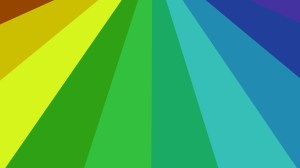 Abstract Blue Green and Yellow Radial Burst Background