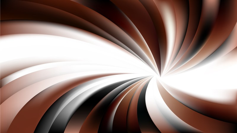 Abstract Brown Black and White Swirling Radial Background