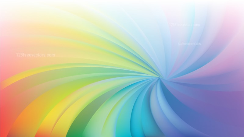 Abstract Colorful Spiral Rays Background