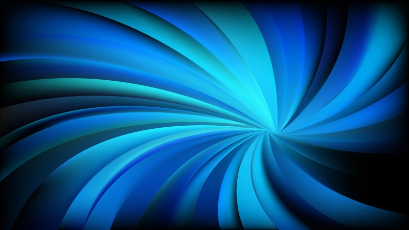 Abstract Cool Blue Swirling Radial Background