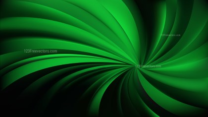 Abstract Cool Green Swirling Radial Background Vector