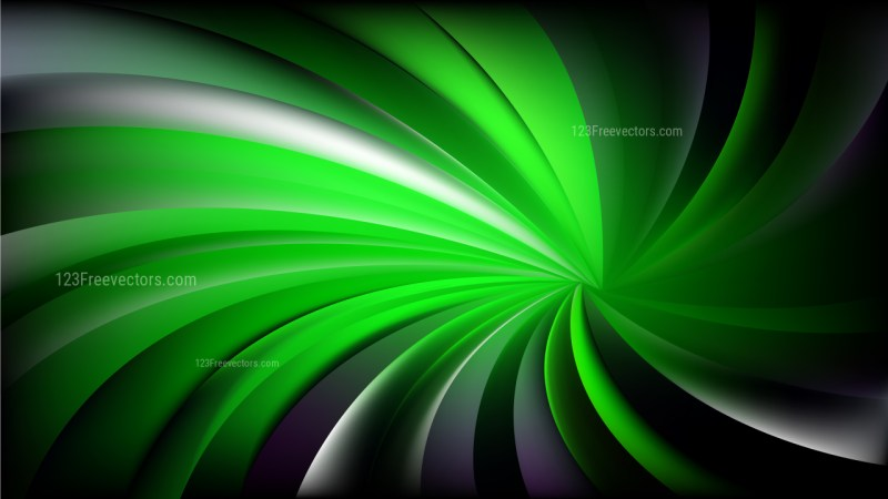 Abstract Cool Green Spiral Background