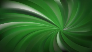 Abstract Dark Green Swirling Radial Background Design