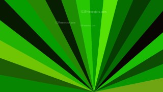 Abstract Green and Black Radial Background Design
