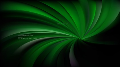 Green and Black Spiral Rays Background Illustration