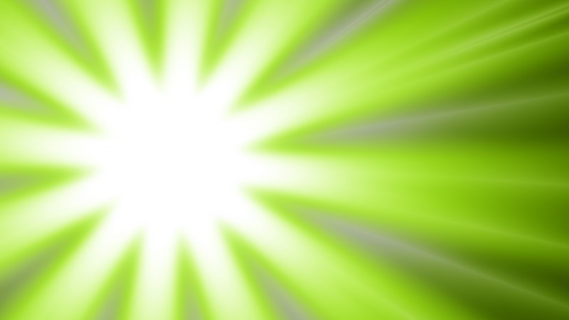 Green and White Radial Stripes Background