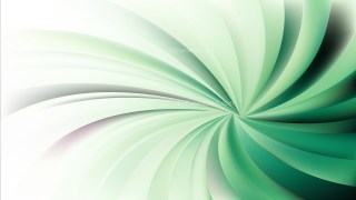 Abstract Green and White Spiral Rays Background Vector Art