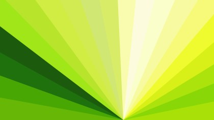 Abstract Green Yellow and White Radial Stripes Background Vector Graphic