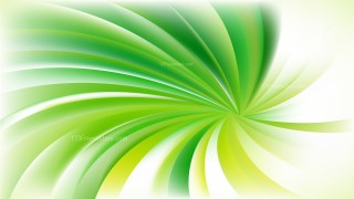 Green Yellow and White Swirling Radial Background Graphic