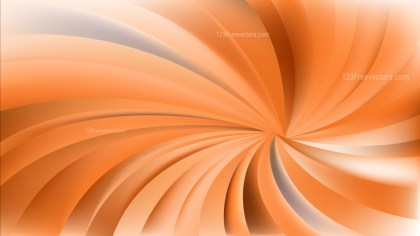 Orange Radial Spiral Rays background