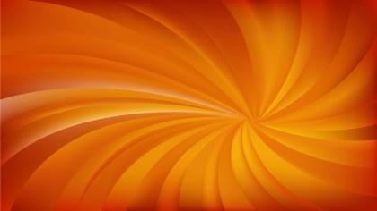 Abstract Orange Swirling Radial Background Vector