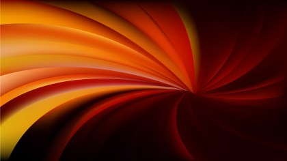 Orange and Black Radial Spiral Rays background
