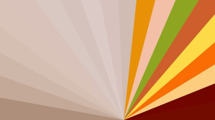 Abstract Orange and Green Radial Stripes Background