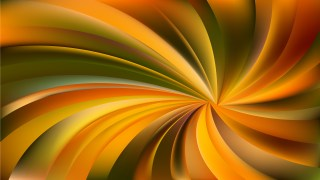 Abstract Orange and Green Radial Spiral Rays background
