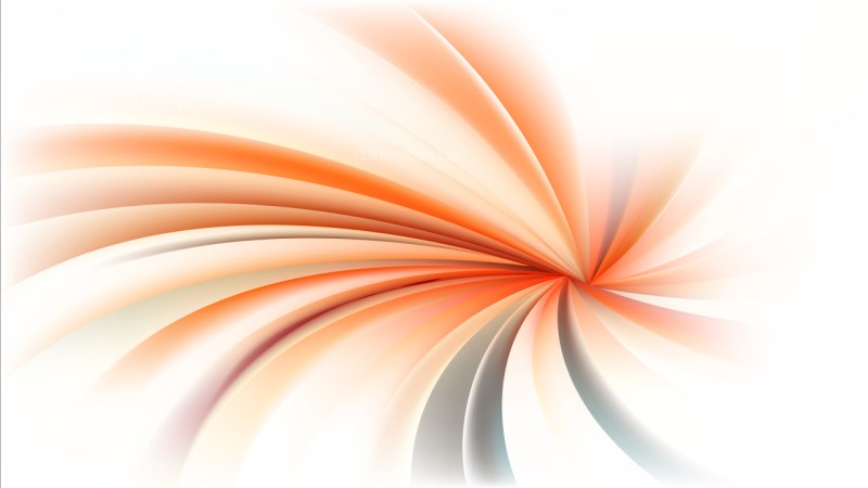 Orange and White Spiral Background Vector Illustration