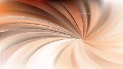 Orange and White Swirling Radial Background Vector