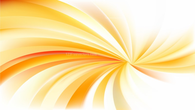 Abstract Orange and White Spiral Background Vector Illustration