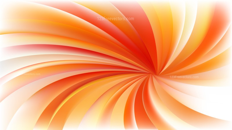 Orange and White Spiral Background