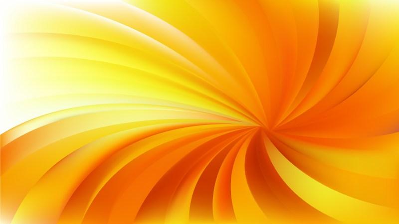 Orange and Yellow Twist Swirl Rays Background