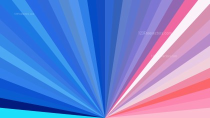 Abstract Pink and Blue Radial Stripes Background