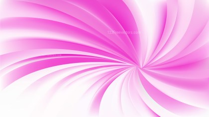 Pink and White Spiral Background Vector Image