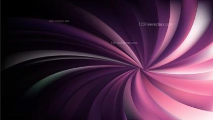 Pink Black and White Swirling Radial Background Illustrator