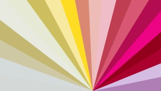 Abstract Pink Yellow and White Radial Stripes Background Vector Graphic