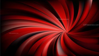 Abstract Red and Black Spiral Rays Background Image