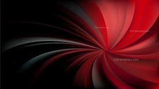 Abstract Red and Black Spiral Rays Background Vector Image