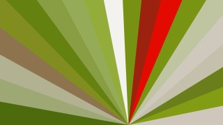 Red and Green Radial Stripes Background