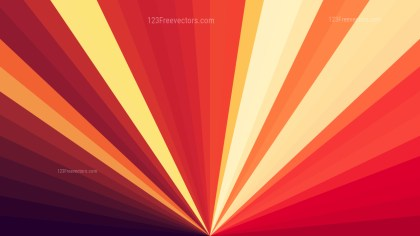 Abstract Red and Orange Radial Stripes Background Vector Graphic