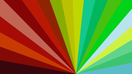 Abstract Red Yellow and Green Radial Stripes Background
