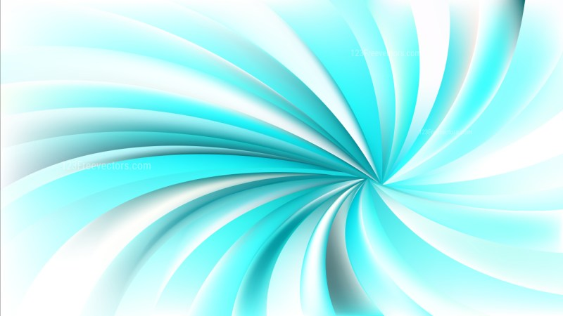 Abstract Turquoise and White Spiral Rays Background