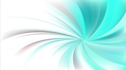 Turquoise and White Swirling Radial Vortex Background