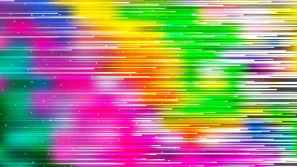 Abstract Colorful Horizontal Lines Background Vector Image