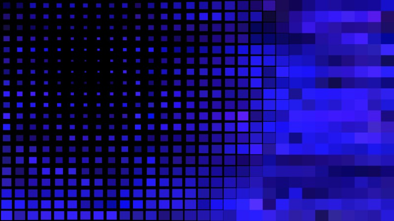 Abstract Black and Blue Square Mosaic Background
