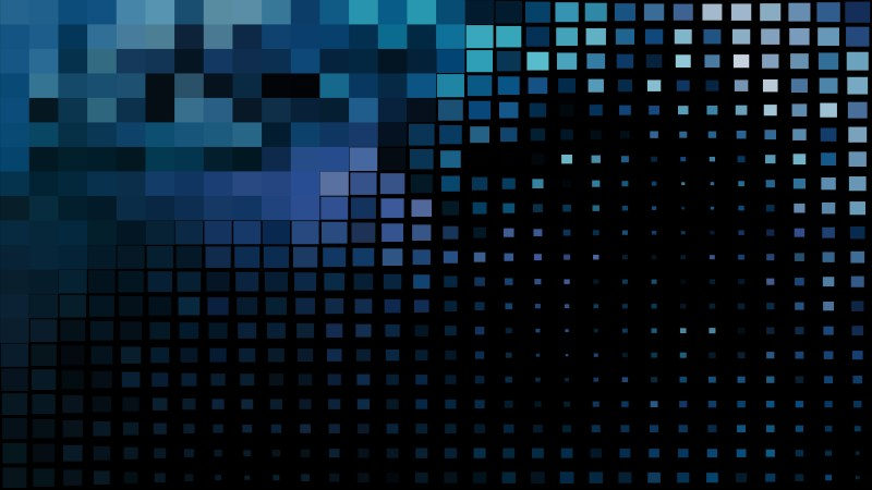 Abstract Black and Blue Geometric Mosaic Square Background